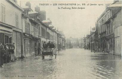 """CPA FRANCE 10 """"Troyes, le Faubourg Saint Jacques"""" / INONDATION"""