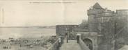 """35 Ille Et Vilaine CPA PANORAMIQUE FRANCE 35 """"Saint Malo, les remparts, la plage et la tour Qui qu'en Grogne"""""""