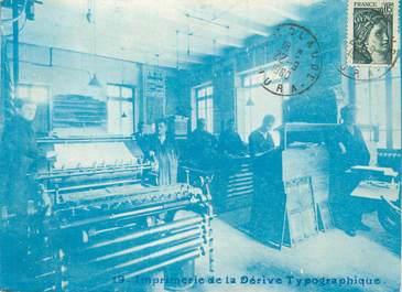 """CPA FRANCE 39 """"Saint Claude, imprimerie de la Dérive Typographique"""""""
