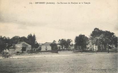 """CPA FRANCE 07 """"Devesset, le Hameau de Manjour et le temple"""""""