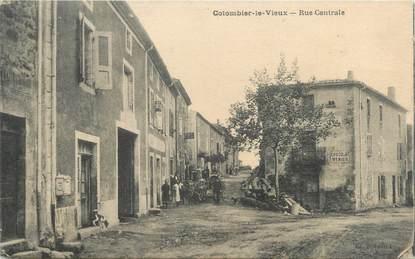 """CPA FRANCE 07 """"Colombier le Vieux, rue centrale"""""""