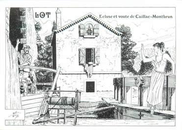 """CPM FRANCE 46 """"Ecluse et voute de Caillac Montbrun"""""""