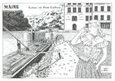 """44 Loire Atlantique CPM FRANCE 44 """"Ecluse de Pont Caffino, château Thébaud"""""""