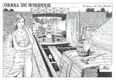 """58 Nievre CPM FRANCE 58 """"Canal du NIvernais, écluse de la Forêt"""""""