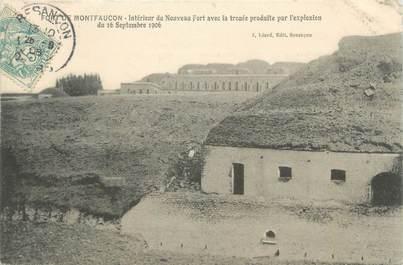 """CPA FRANCE 25 """"Fort de Montfaucon, intérieur du nouveau fort"""""""