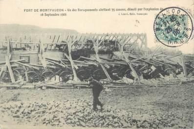 """CPA FRANCE 25 """"Fort de Montfaucon, un des baraquements abritant 35 canons"""""""