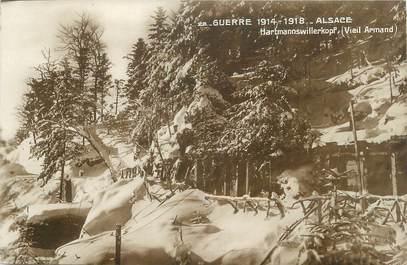"""CPA FRANCE 68 """"Vieil Armand, abris des soldats """" / GUERRE DE 1914-1918"""