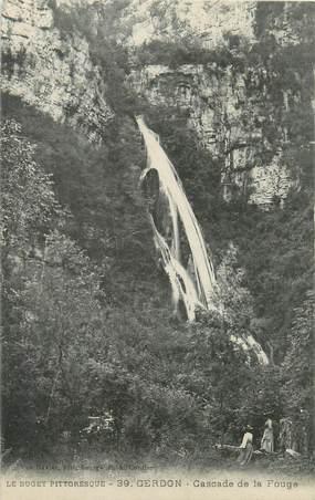 """CPA FRANCE 01 """"Cerdon, cascade de la Fouge"""""""