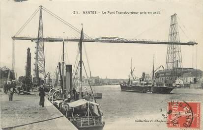 """CPA FRANCE 44 """"Nantes, le pont à Transbordeur pris en aval"""""""