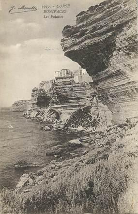 "CPA FRANCE 20 ""Corse, Bonifacio, les falaises"""