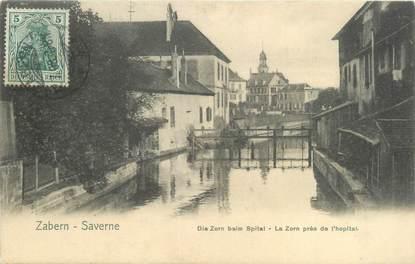 """CPA FRANCE 67 """"Saverne, la Zorn près de l'hopital"""" / Ed. NELS"""