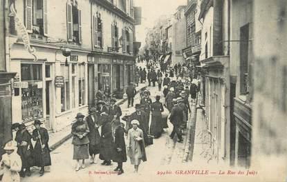 """CPA FRANCE 50 """"Granville, la rue des juifs"""""""