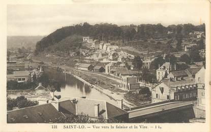 """CPA FRANCE 50 """"Saint Lo, vue vers la Falaise et la Vire"""""""