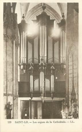 """CPA FRANCE 50 """"Saint Lo, les orgues de la cathédrale"""" / ORGUES"""