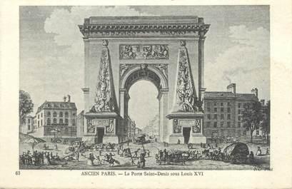 """CPA FRANCE 75008 """"Ancien Paris, la porte Saint Denis sous Louis XVI"""""""