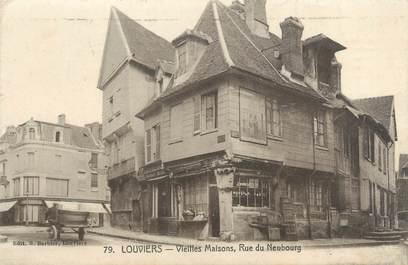 """CPA FRANCE 27 """"Louviers, vieilles maisons, rue du Neubourg"""""""