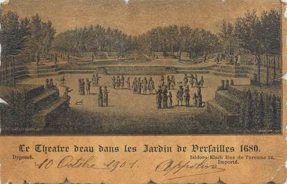 """CPA FRANCE 78 """"Versailles, le théâtre d'eau dans les jardins de Versaille"""""""