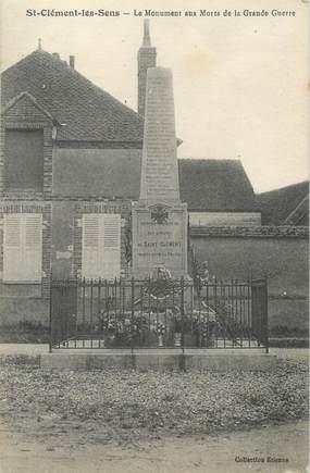 """CPA FRANCE 89 """"Saint Clément, le monument aux morts"""""""