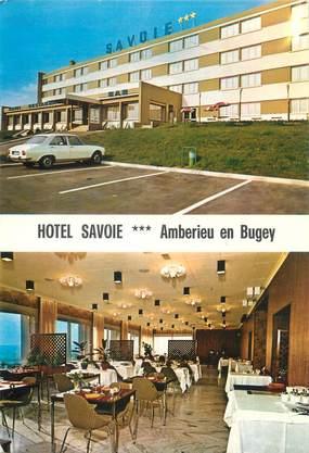 "CPSM FRANCE 01 ""Amberieu en Bugey, hôtel Savoie"""