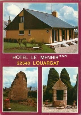 """CPSM FRANCE 22 """"Louargat, hôtel le Menhir"""""""