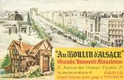 """75 Pari CPSM FRANCE 75008 """"Paris, Grande Brasserie Alsacienne Au moulin d'Alsace"""""""