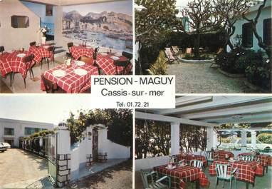 "CPSM FRANCE 13 ""Cassis sur Mer, pension Maguy"""