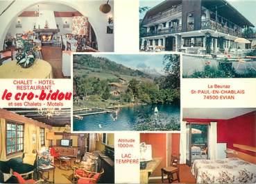 """CPSM FRANCE 74 """"Saint Paul en Chablais, chalet hôtel restaurant le Cro Bidou"""""""