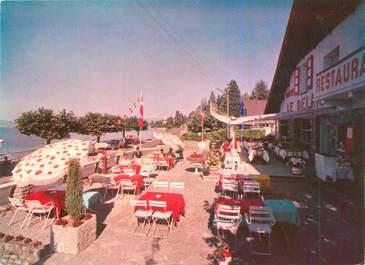 """CPSM FRANCE 74 """"Amphion Les Bains, hôtel restaurant Le relais"""""""
