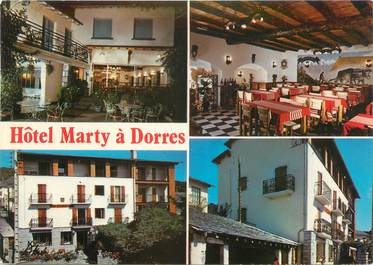 "CPSM FRANCE 66 ""Dorres, hôtel restaurant Marty"""