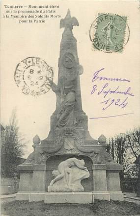 "CPA FRANCE 89 ""Tonnerre, monument aux morts"""