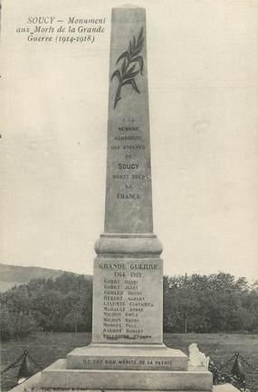"""CPA FRANCE 89 """"Soucy, monument aux morts"""""""