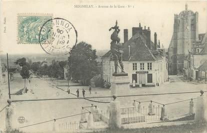 "CPA FRANCE 89 ""Seignelay, avenue de la gare"""