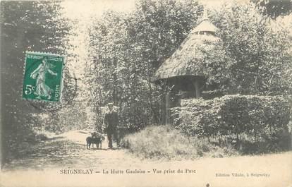 "CPA FRANCE 89 ""Seignelay, la hutte Gauloise"""
