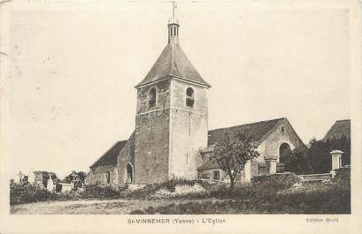 "CPA FRANCE 89 ""Saint Vinnemer, l'église"""