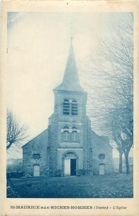 """CPA FRANCE 89 """"Saint Maurice aux Riches Hommes, l'église"""""""