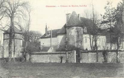"""CPA FRANCE 89 """"Ouanne, château de Minière"""""""