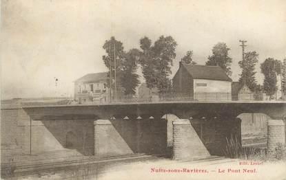 """CPA FRANCE 89 """"Nuits sous Ravières, le pont neuf"""""""