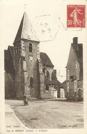"""CPA FRANCE 89 """"Val de Mercy, l'église"""""""