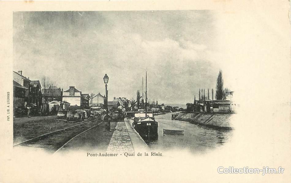 Cpa france 27 pont audemer quai de la riscle 27 for Buro 27 pont audemer