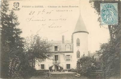 """CPA FRANCE 89 """"Foissy sur Vanne, château de Saint Maurice"""""""