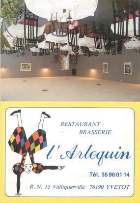 "CPSM FRANCE 76 ""Yvetot, restaurant l'Arlequin"""