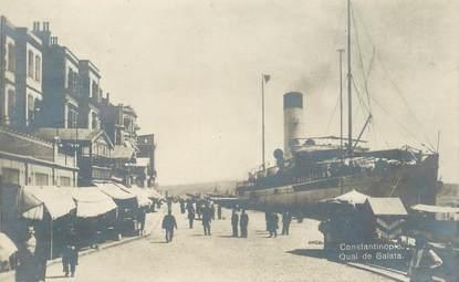 """CPA TURQUIE """"Constantinople, quai de Galata"""""""