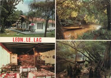 """CPSM FRANCE 40 """"Leon, bar restaurant Lou Pescaire"""""""