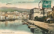 "20 Corse / CPA FRANCE 20 ""Bastia, le quai Nord du vieux port"""