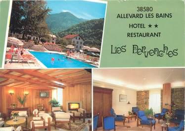 """CPSM FRANCE 38 """"Allevard Les Bains, hôtel restaurant Les Pervenches"""""""