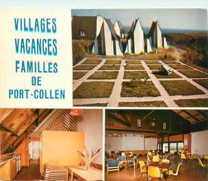 """CPSM FRANCE 56 """"Belle Ile en Mer, Le Palais, village vacances Familles de Port Collen"""""""