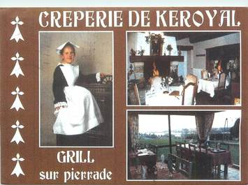 "CPSM FRANCE 56 ""Auray, crêperie de Keroyal"""