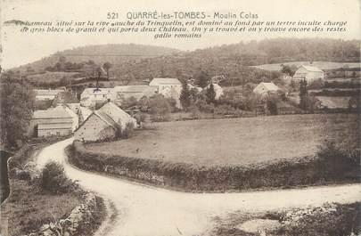 """CPA FRANCE 89 """"Quarré les Tombes, le moulin Colas """""""