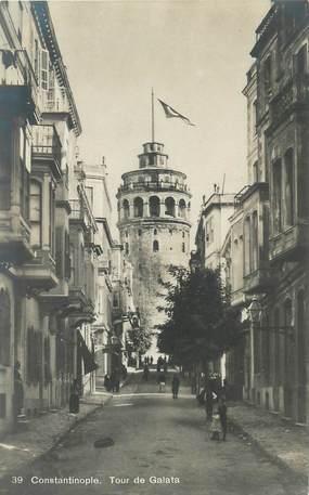 "CPA TURQUIE ""Constantinople, Tour de Galata"""