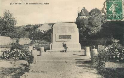 """CPA FRANCE 89 """"Cravant, le monument aux morts"""""""